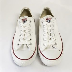 Converse All Star white canvas low top sneakers